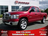 2008 Inferno Red Crystal Pearl Dodge Ram 1500 Big Horn Edition Quad Cab #61344668