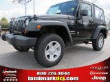2012 Black Forest Green Pearl Jeep Wrangler Sport 4x4 #61344652