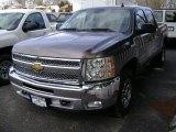 2012 Mocha Steel Metallic Chevrolet Silverado 1500 LT Crew Cab 4x4 #61344622