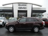 2011 Dark Cherry Kia Sorento LX AWD #61457497