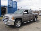 2012 Graystone Metallic Chevrolet Silverado 1500 LT Crew Cab 4x4 #61457451