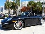 2008 Basalt Black Metallic Porsche 911 Carrera 4S Cabriolet #61457448