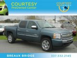 2009 Blue Granite Metallic Chevrolet Silverado 1500 LT Crew Cab #61457841