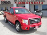 2010 Vermillion Red Ford F150 STX Regular Cab #61457394