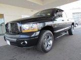 2006 Brilliant Black Crystal Pearl Dodge Ram 1500 Night Runner Quad Cab 4x4 #61457812