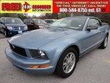 2005 Windveil Blue Metallic Ford Mustang V6 Premium Convertible #61457766