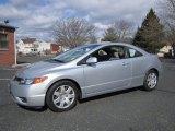 2007 Alabaster Silver Metallic Honda Civic LX Coupe #61499826
