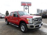 2012 Vermillion Red Ford F250 Super Duty XLT Crew Cab 4x4 #61499767