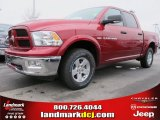 2012 Deep Cherry Red Crystal Pearl Dodge Ram 1500 Mossy Oak Edition Crew Cab 4x4 #61537681