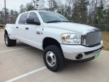 2008 Bright White Dodge Ram 3500 SLT Mega Cab 4x4 Dually #61538111