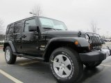 2012 Jeep Wrangler Unlimited Black Forest Green Pearl