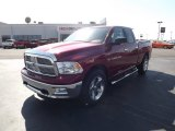 2012 Deep Cherry Red Crystal Pearl Dodge Ram 1500 Big Horn Quad Cab #61537826