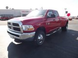 2012 Flame Red Dodge Ram 3500 HD ST Crew Cab 4x4 Dually #61537822