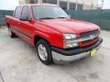 2005 Victory Red Chevrolet Silverado 1500 LS Crew Cab #61537765
