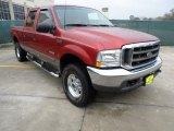 2003 Toreador Red Metallic Ford F250 Super Duty Lariat Crew Cab 4x4 #61537763
