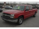 2004 Victory Red Chevrolet Silverado 1500 LS Extended Cab #61580667