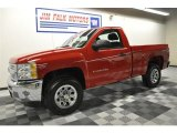 2012 Victory Red Chevrolet Silverado 1500 Work Truck Regular Cab 4x4 #61580925