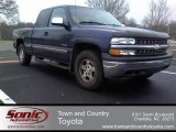 2000 Indigo Blue Metallic Chevrolet Silverado 1500 LS Extended Cab 4x4 #61580579