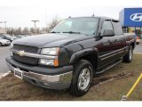 2005 Dark Gray Metallic Chevrolet Silverado 1500 Z71 Extended Cab 4x4 #61580548
