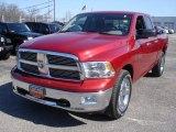 2010 Inferno Red Crystal Pearl Dodge Ram 1500 Big Horn Quad Cab 4x4 #61580099