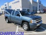 2009 Blue Granite Metallic Chevrolet Silverado 1500 LT Extended Cab 4x4 #61580074