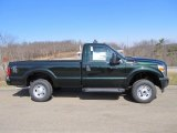 Green Gem Metallic Ford F250 Super Duty in 2012