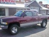 2001 Dark Garnet Red Pearl Dodge Ram 1500 SLT Club Cab 4x4 #61580415