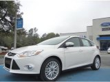 2012 White Platinum Tricoat Metallic Ford Focus SEL 5-Door #61646162