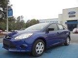 2012 Sonic Blue Metallic Ford Focus S Sedan #61646161