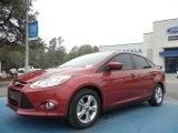 2012 Red Candy Metallic Ford Focus SE Sport Sedan #61646155