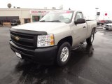2009 Silver Birch Metallic Chevrolet Silverado 1500 Regular Cab #61646501