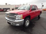 2012 Victory Red Chevrolet Silverado 1500 LT Extended Cab 4x4 #61646499