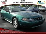 2000 Amazon Green Metallic Ford Mustang V6 Coupe #61646726