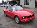 2005 Torch Red Ford Mustang V6 Premium Convertible #61645953