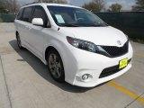2012 Super White Toyota Sienna SE #61646286