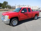 2012 Victory Red Chevrolet Silverado 1500 LS Extended Cab 4x4 #61702288