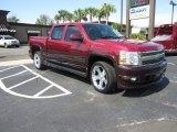 2007 Sport Red Metallic Chevrolet Silverado 1500 LTZ Crew Cab #61702578
