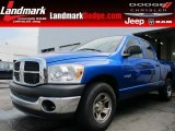 2008 Electric Blue Pearl Dodge Ram 1500 SXT Quad Cab #61701969