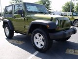 2010 Jeep Wrangler Rescue Green Metallic
