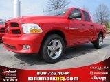 2012 Flame Red Dodge Ram 1500 Express Quad Cab #61701954