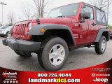 2012 Deep Cherry Red Crystal Pearl Jeep Wrangler Sport 4x4 #61701924