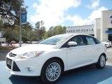 2012 White Platinum Tricoat Metallic Ford Focus SEL Sedan #61701875