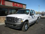 2002 Oxford White Ford F250 Super Duty XL SuperCab 4x4 #61702480