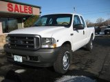 2002 Oxford White Ford F250 Super Duty XL SuperCab 4x4 #61702479