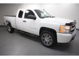 2008 Summit White Chevrolet Silverado 1500 Work Truck Extended Cab #61702162