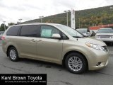 2012 Sandy Beach Metallic Toyota Sienna XLE #61702374