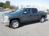 2012 Blue Granite Metallic Chevrolet Silverado 1500 LT Crew Cab 4x4 #61702293