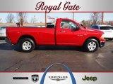 2010 Inferno Red Crystal Pearl Dodge Ram 1500 ST Regular Cab 4x4 #61761134