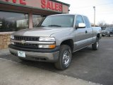 2002 Light Pewter Metallic Chevrolet Silverado 1500 LS Extended Cab 4x4 #61761947