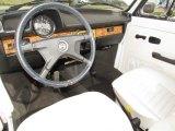 1979 Volkswagen Beetle Convertible White Interior